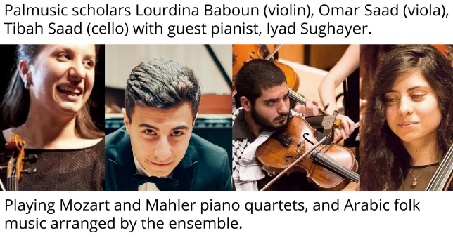 Palestinian musicians in Edinburgh 6 July 2019